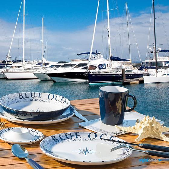 TALERZ BRUNNER BLUE OCEAN NA ZUPĘ 21 cm