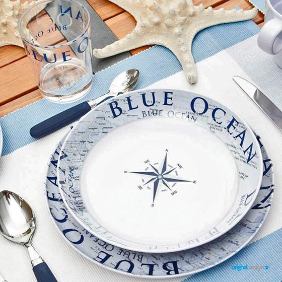 ZESTAW OBIADOWY 16SZT BRUNNER BLUE OCEAN LUNCH BOX